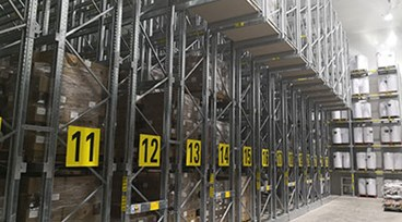 Recycling MOVO Mobile Racking works for Big Blue Logistics